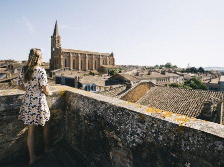 Vue de la tour Fermat à Beaumont de Lomagne
