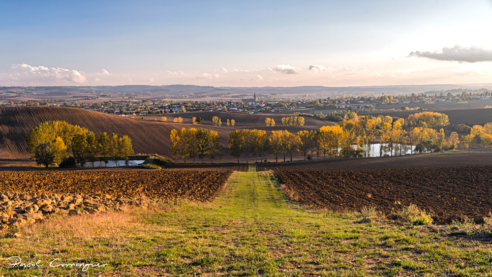 Panorama sur Beaumont de Lomagne