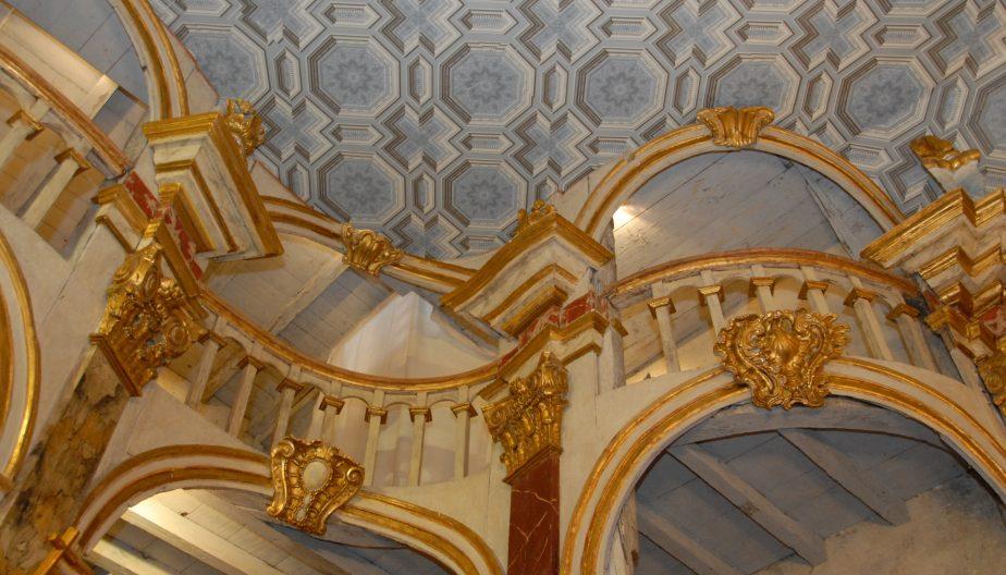 Plafond trompe l'oeil eglise baroque de Lachapelle