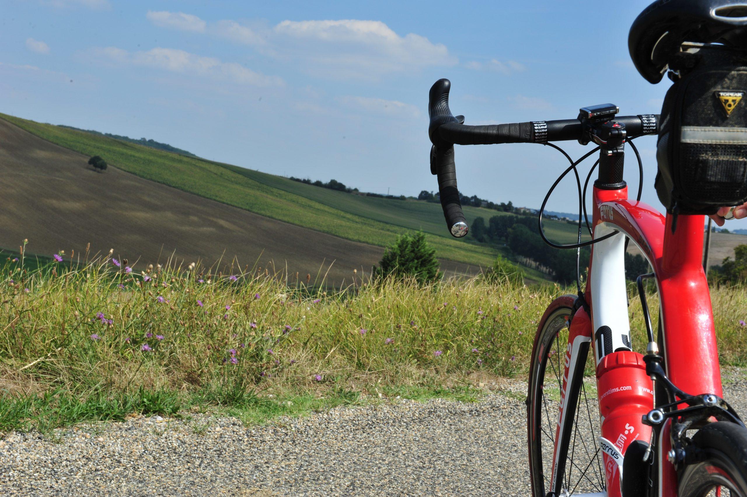 La Lomagne à vélo. 4 circuits cyclo
