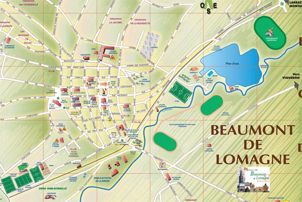 Plan de Beaumont de Lomagne