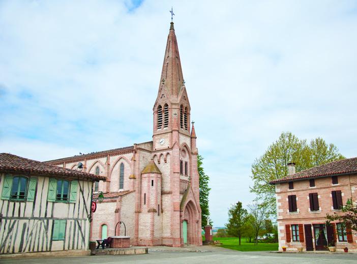 Place du village de Faudoas